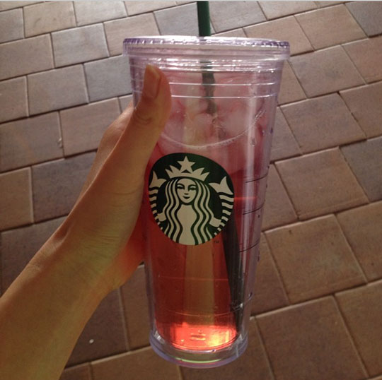 Why kudos on using that reusable cup. The straw? Not so much.