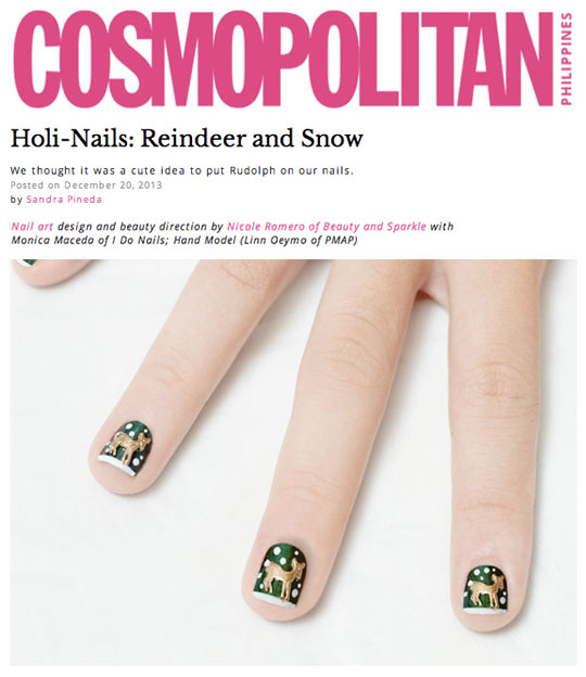 Work Life Nail Art Shoot With Cosmo Beauty Sparkle