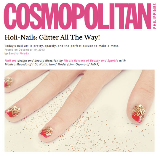 You know I'm all about the sparkle! Click on the photo to see the full tutorial on cosmo.ph.