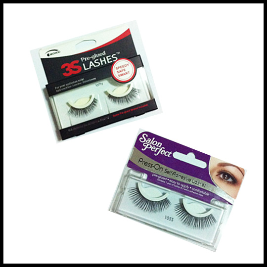 3S Pre-Glued Lashes and Salon Perfect Press-On Lashes are available at Purebeauty.