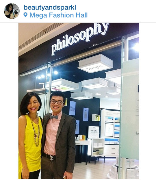Talking shop with Philosophy's brand manager, Ryan Cu. Check out the store at the Mega Fashion Hall in SM Megamall.