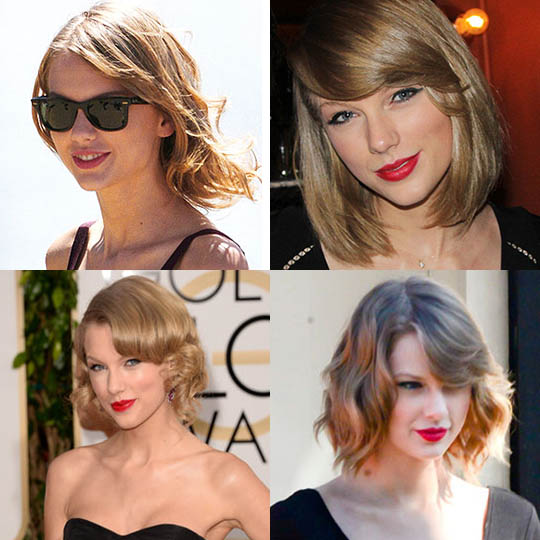 It reminds me of Karlie Kloss' bob, but I like it on Taylor more. Love how she styles it in so many different ways!