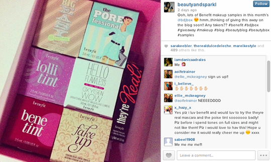 So many likes and comments! Looks like there are a lot of Benefit fans out there!