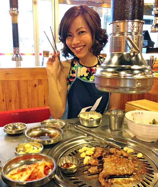 All that primping made me hungry! Authentic Korean BBQ—so yummy! Experimenting with the side dishes is my fave part.