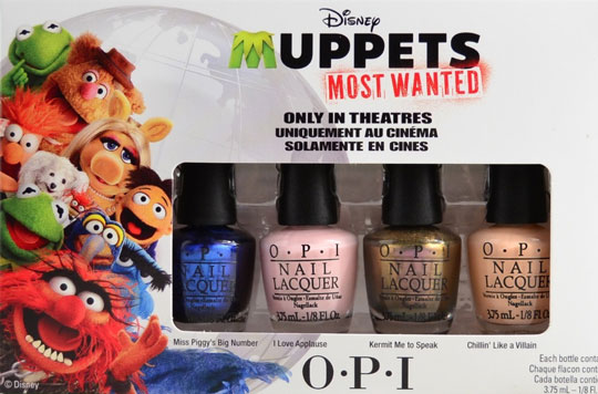 Muppets Most Wanted Mini Nail Lacquers by OPI.