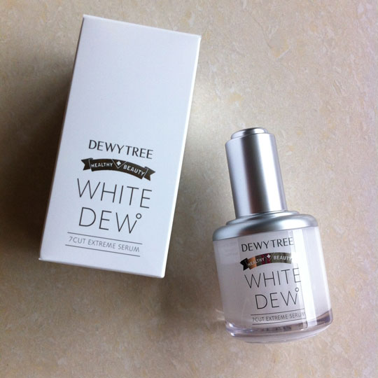 Up next: Dewytree White Dew 7 Cut Extreme Serum, (worth $41). If you like clean cosmetics, then this is for you! It's a serum for lightening dark spots and freckles without ingredients that have gotten a bad rap—like parabens, mineral oil, and synthetic dyes.