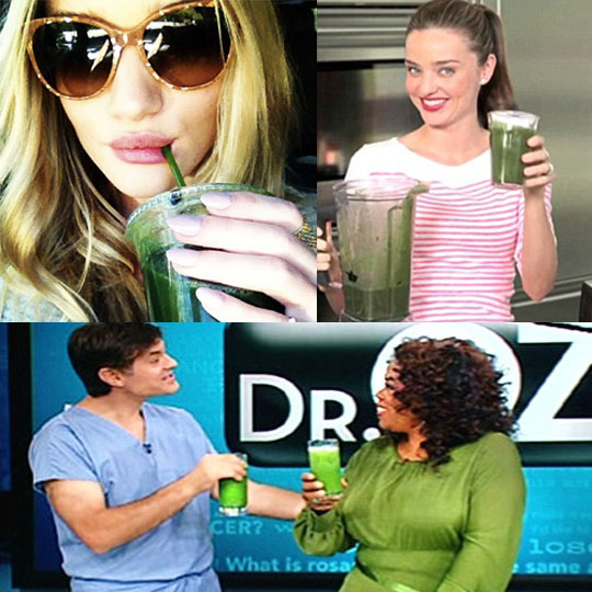 Rosie Huntington-Whiteley, Miranda Kerr, Dr. Oz, and Oprah are just a few who are fans of this green juice.