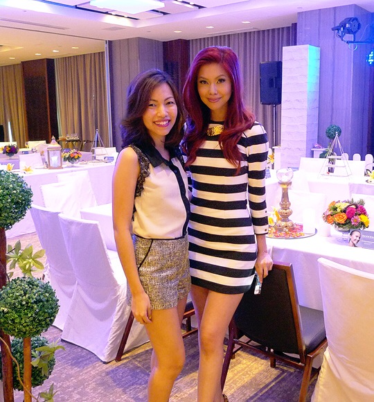 Our host for the event, Bianca Valerio. Sandra and I were totally drooling over her dress! I was really surprised (and kilig!) when she went up to me and gushed about how much she liked my blog! Thank you, Bianca! Hearing that really makes all the long nights worth it <3