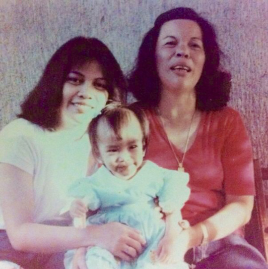 Three generations right here—my mom, grandma, and...me!