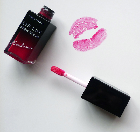 It's the Tonymoly Kiss Lover Lip Lux Glow Gloss in 07 Muse Red, P598. It's the latest from the Korean brand!