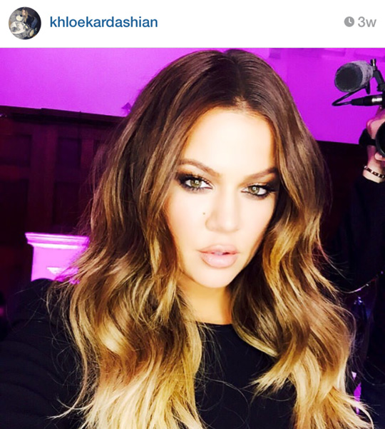 The peg: a toned-down version of Khloe's light brown, ombré style for summer! My hair won't look like this yet, but that's what we're planning on doing—if I don't get tempted to cut it short again. Haha!