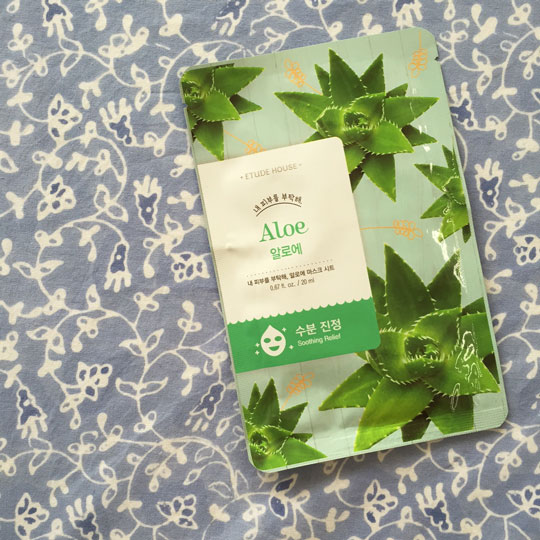What I Used: Etude House Aloe Soothing Relief Face Mask.