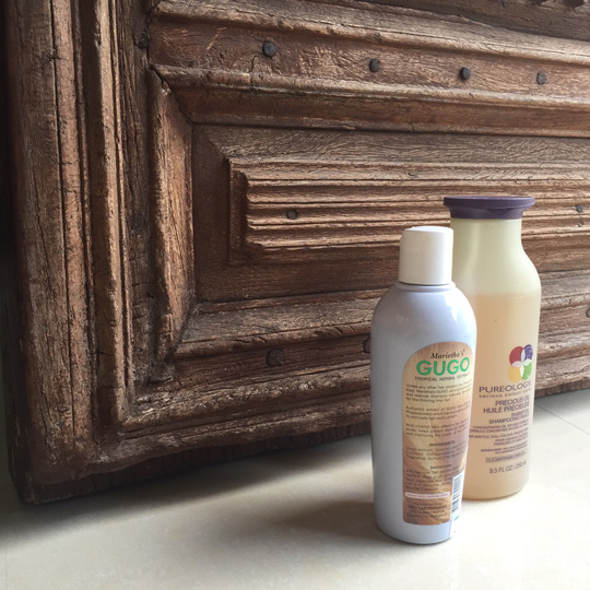 One shampoo is 100% vegan and the other is made with our native gugo.