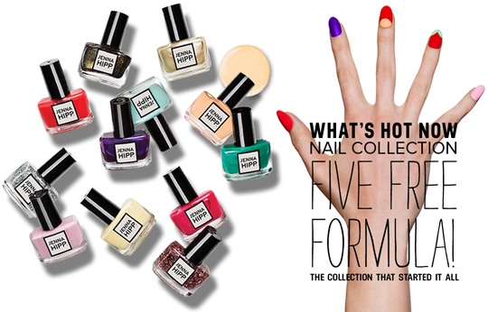 How cool are her polishes? The five free formula means it doesn't contain the five toxins that are usually in nail colors like formaldehyde resin and camphor.