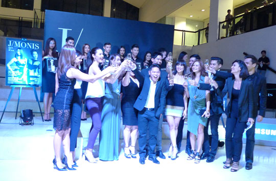 Jing with his muses during the launch party!