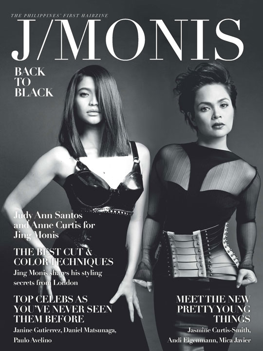 There's Anne (and fellow actress Judy Ann Agoncillo) working the cover of Jing's latest venture—the J/Monis Hairzine. It's the first of its kind in the country!