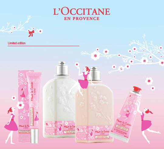 The L'Occitane Flerus de Cerisier line! Simple, pretty, and perfect for V-day!
