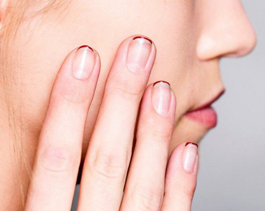It can also look as basic as this! Remember, just let your natural nails peek through.