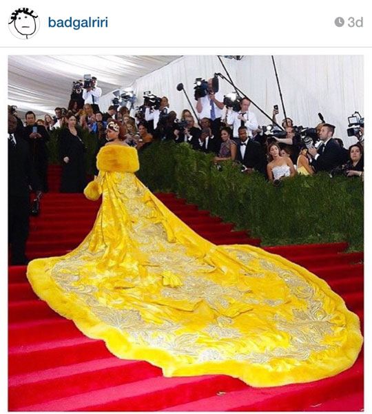 Just look at this gown! Rihanna really knows how to push fashion boundaries. Not my fave look, but there's no denying it's magnificent.