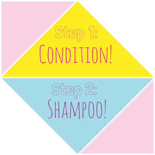 Yup, you read that right! Try conditioning your hair first before you shampoo.