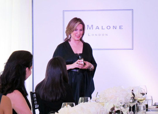 Debbie Wild, lifestyle director for Jo Malone, shared some interesting tips about how to scent your home, too.