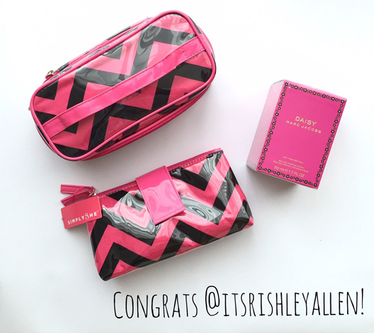 Congrats @itsrisheyallen! Email your shipping deets to nicole@beautyandsparkle.com, so I can send you your goodies!