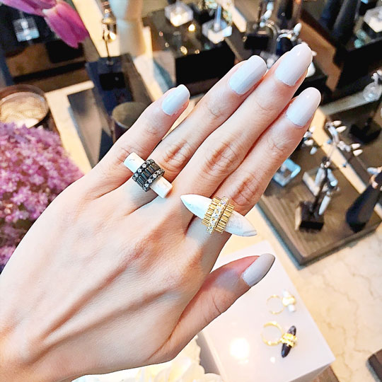 Good thing I just had a mani! Hehe, love how elegant these rings made me feel.