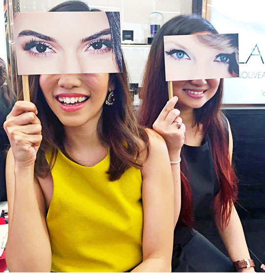 It's all about the eyes, right?? Haha! Goofing off with fellow beauty blogger, Marj!