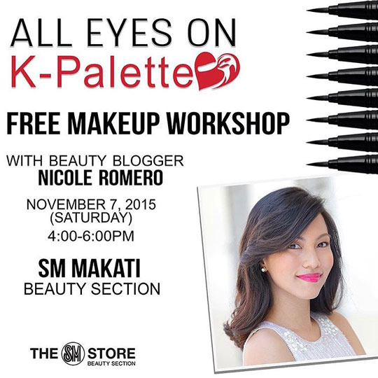 K-Palette made it super easy! Just drop by and we'll have a beauty-filled afternoon.