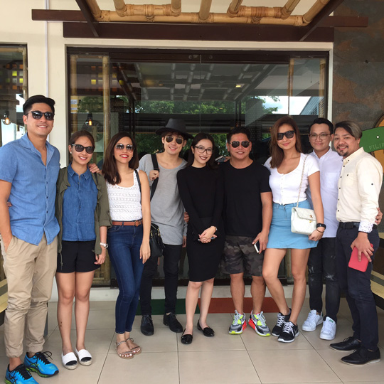 At FCF Davao for lunch with the Jing Monis and his brand ambassadors! That's Paul Jake Castillo, Kaye Abad, Fifth Solomon, Mich Sanciano of Mega magazine, Jing, Phoemela Baranda, and the rest of Jing's team.