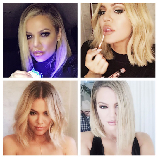 Oh, Khloe! I don't know why, but she always seems to be my hair peg! Image via instagram.com/khloekardashian.