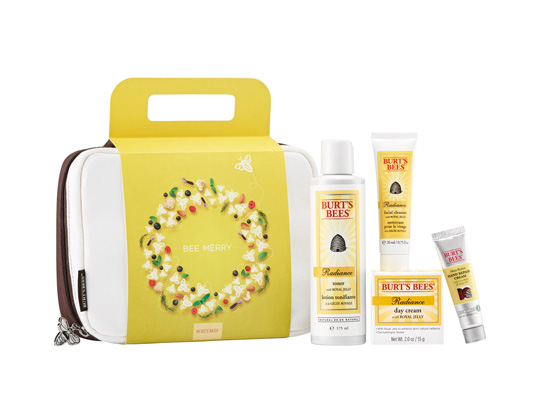 A radiant gift set from Burt's Bees! The pouch is great for traveling, too.