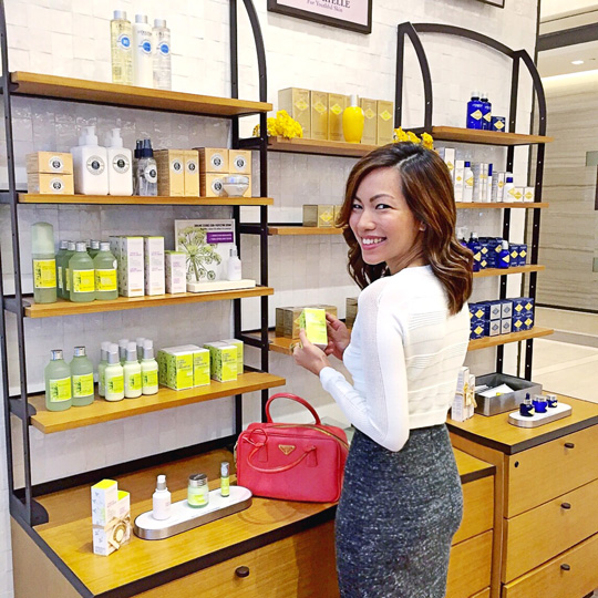 Shopping at the L'Occitane store at BGC Central!
