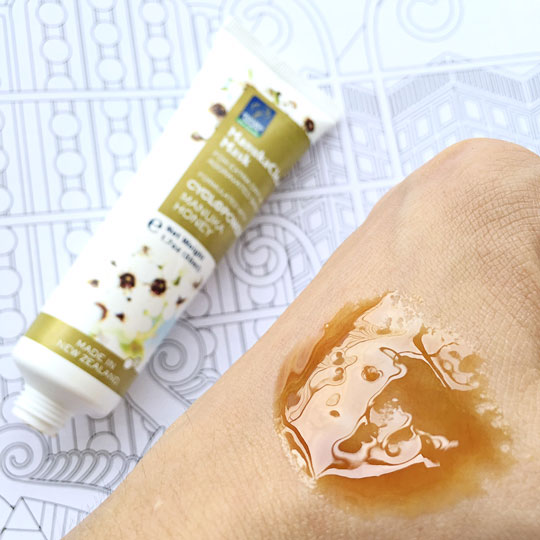 It's sticky when you apply it over your skin, but it rinses off super easily. Watch my video here to see how I used it to multi-mask!