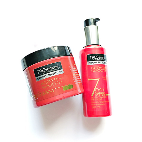 The heat-activated treatment and hair mask are my favorites! I always curl my hair, so these help reverse the styling damage.