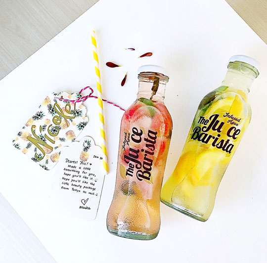 Perfect for recharging over weekends! The Juice Barista Infused Agua (click here to visit their website).
