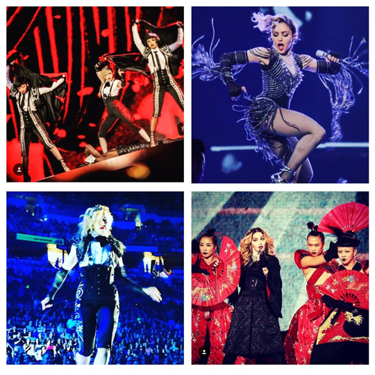 Pics of Madonna's Rebel Heart Tour from all over the globe! Looks like it's going to be a fab show! Images via instagram.com/madonna.