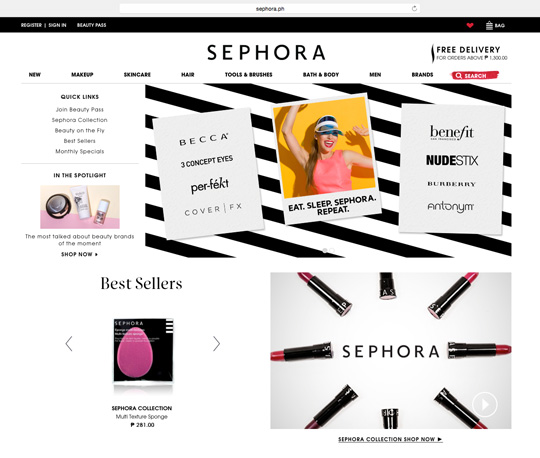 You can now shop online via Sephora.ph.