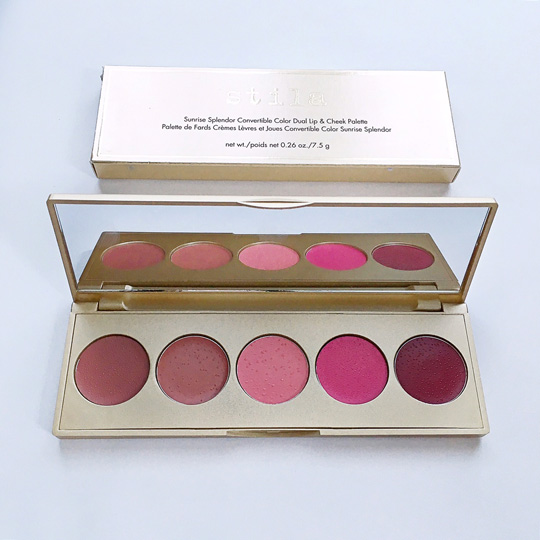 Up next: Stila Convertible Color Dual Lip & Cheek Palette in Sunrise Splendor, P2,050. This one has a collection of cool colors (with one exclusive shade also).[