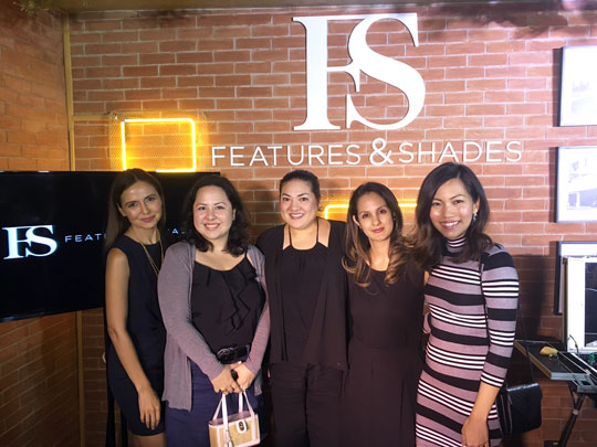 Hanging out with my fellow beauty bloggers and makeup artists! That's Cat, Ces, Sabs, and Yciar.