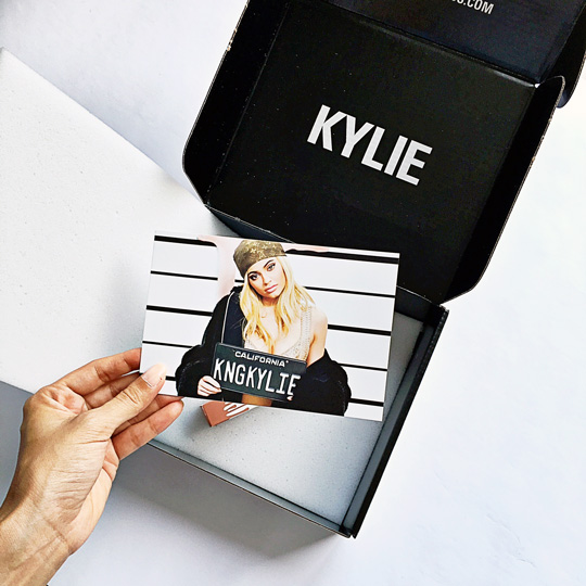 And voilà! A postcard from King Kylie with a note on the back that says...