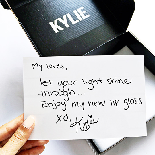 Love it! And I loved getting a peak at her handwriting, too.