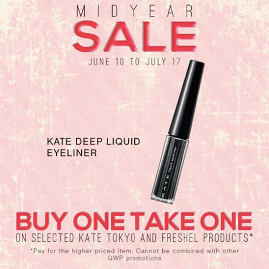 And here's a little beauty announcement: Kate's on sale right now! It's selected items only, so visit their Facebook page here for updates.