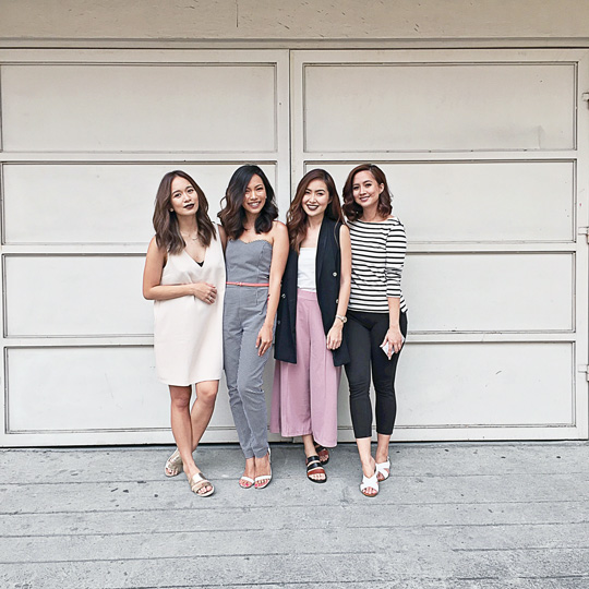 And here I am with the other beauty bloggers featured in the story—Shari, Angela, and Camie.
