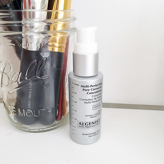 Check out the Algenist Multi-Perfecting Pore Corrector Concentrate if you want tighter pores.