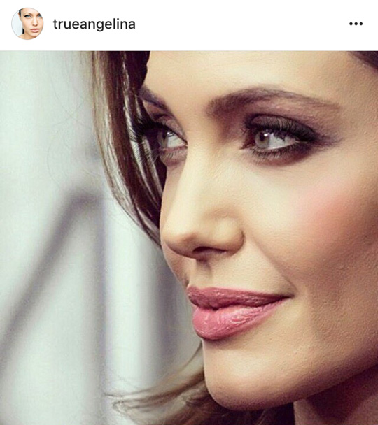 Whenever I try new looks, I love looking for celeb pegs! This time around, I went with Angelina Jolie.