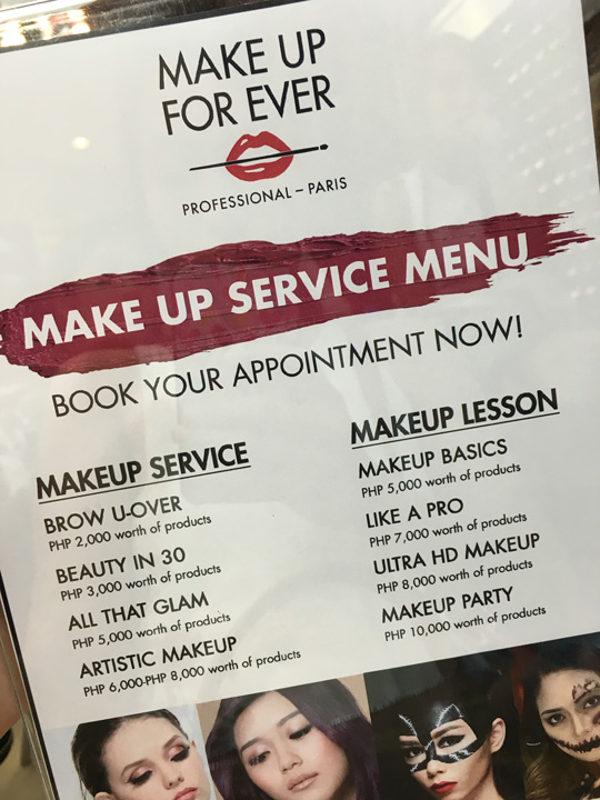 And if you want to learn how to do your own makeup or need a pro to do it for a special event, the MUFE boutiques now have these awesome services! Super worth it, since you get to take home free beauty loot also!